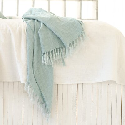 Laundered Linen Throw Color: Sky