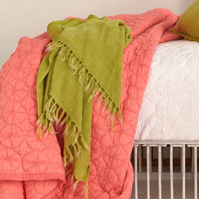 Laundered Linen Throw Color: Citrus