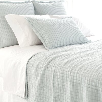 Boyfriend Matelasse Coverlet Size: Queen, Color: Sky