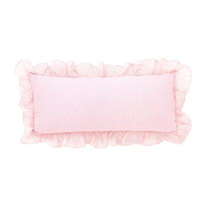 Savannah Gauze Blush Linen Boudoir/Breakfast Pillow