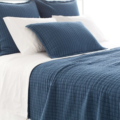 Boyfriend Matelasse Coverlet Color: Aegean, Size: King