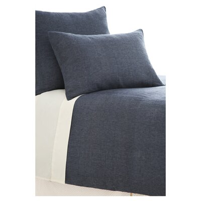 Chambray Linen Duvet Cover Size: King