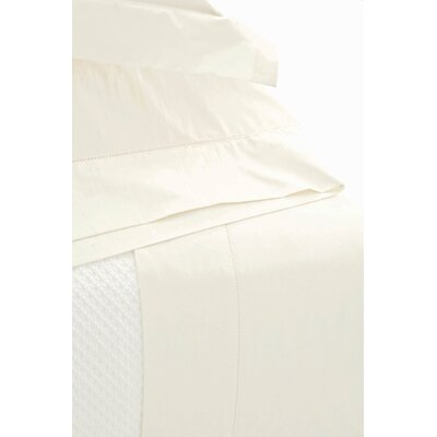 Diamond Matelasse Sham Size: King, Color: Ivory
