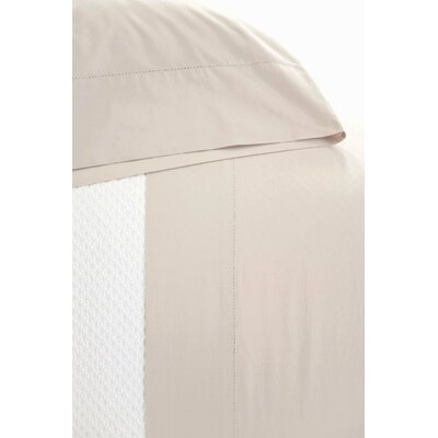 Classic Hemstitch Pillowcase Size: Standard, Color: Platinum