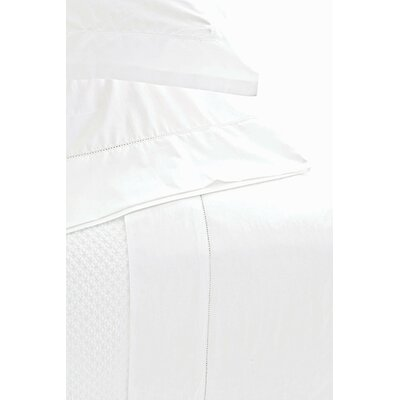 Classic Hemstitch Pillow Case Size: King, Color: White