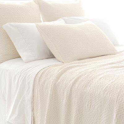 Kerala Matelasse Quilt Size: King, Color: Ivory