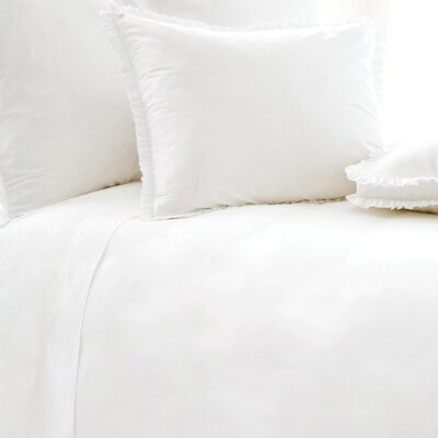 Classic Ruffle 200 Thread Count  Duvet Cover Size: King, Color: White