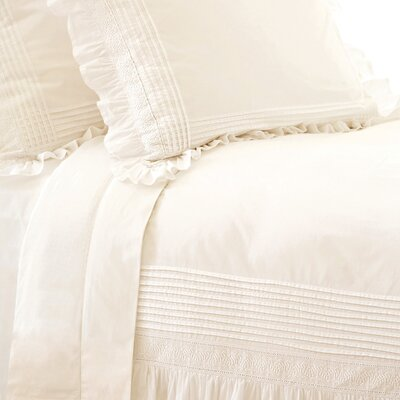 Louisa Duvet Cover Size: King, Color: Ivory