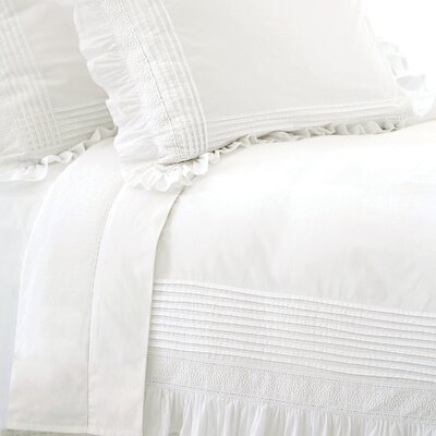 Louisa Duvet Cover Size: King, Color: White