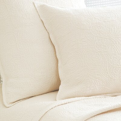 Elizabeth Matelasse Coverlet Color: Ivory, Size: Twin
