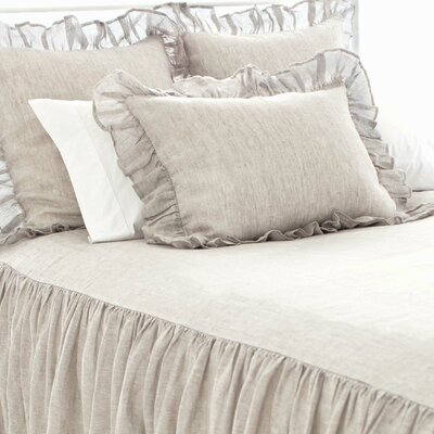 Chambray Savannah Linen Bedspread Color: Dove Grey, Size: Twin