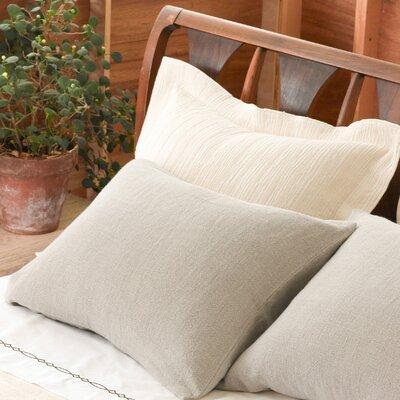 Hardwood Matelass� Sham Color: Ivory, Size: Euro