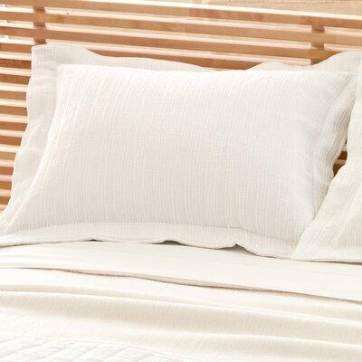 Hardwood Matelass� Sham Color: White, Size: Euro