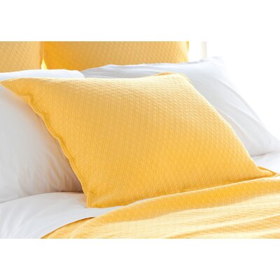 Diamond Matelasse Sham Size: Euro, Color: Canary