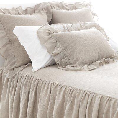 Linen Mesh Bedspread Size: Queen