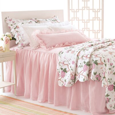 Savannah Linen Gauze Blush Bedspread Size: King