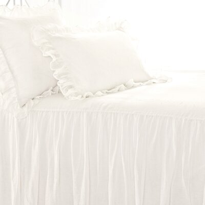 Savannah Linen Bedspread Size: King