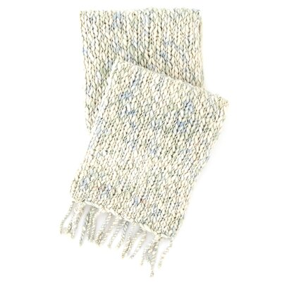 Chunky Knit Mist Wool Throw