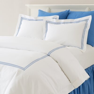 Trio Sham Size: King, Color: French Blue