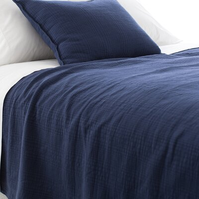 Kelly Matelasse Coverlet Size: King, Color: Indigo