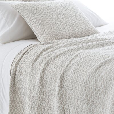 Tyler Quilt Size: King, Color: Pearl Gray