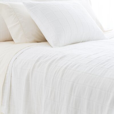 Tribeca Matelasse Coverlet Size: Twin, Color: White