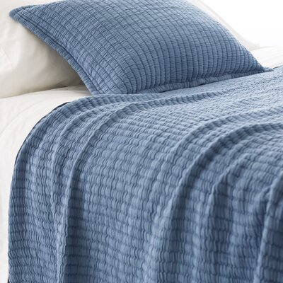 Boyfriend Matelasse Coverlet Color: Storm Blue, Size: King