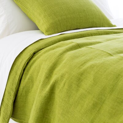 Stone Washed Duvet Cover Size: King, Color: Green