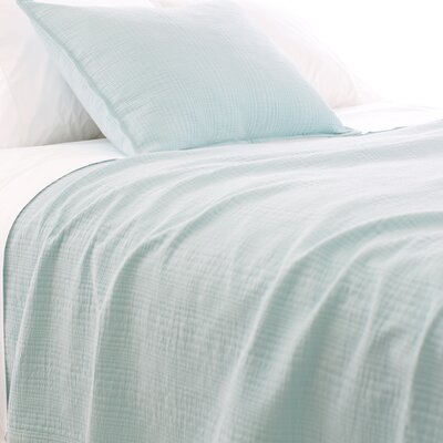 Kelly Matelasse Coverlet Size: Twin, Color: Sky