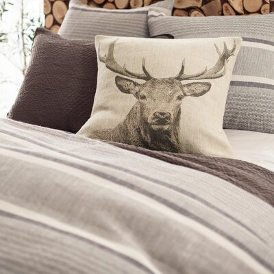Morocco Duvet Cover Color: Java, Size: King