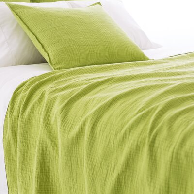 Kelly Matelasse Coverlet Size: Queen, Color: Green