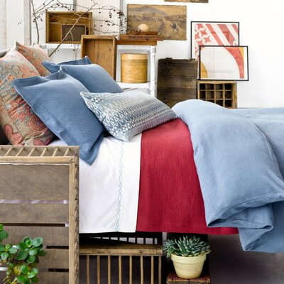 Interlaken Matelasse Coverlet Size: Full / Queen, Color: Brick