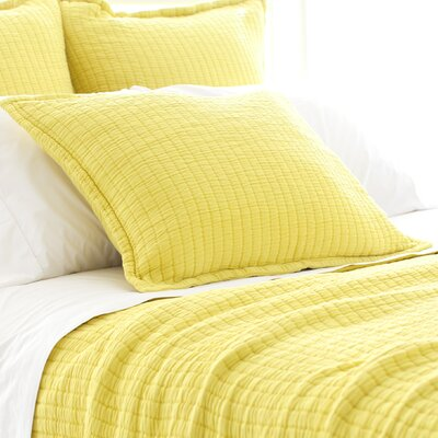 Boyfriend Matelasse Sham Size: Standard, Color: Citrus