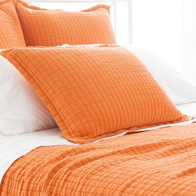 Boyfriend Matelasse Sham Size: Euro, Color: Orange