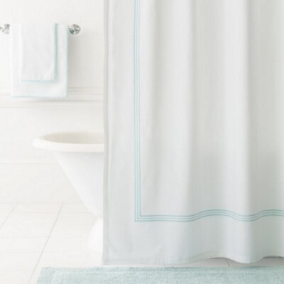 Trio Shower Curtain Color: Sky