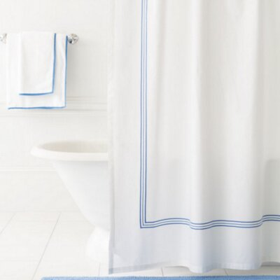 Trio Shower Curtain Color: French Blue