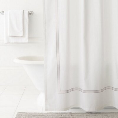 Trio Shower Curtain Color: Pearl Gray
