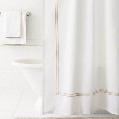 Trio Shower Curtain Color: Linen