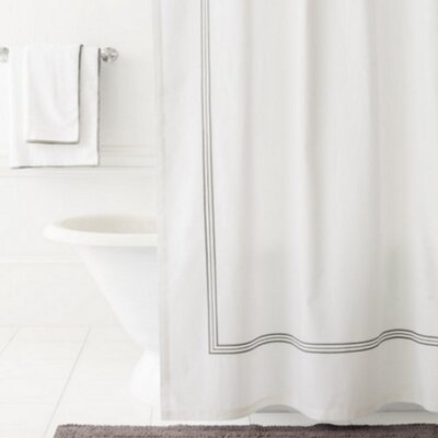 Trio Shower Curtain Color: Shale