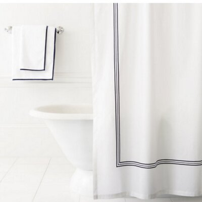 Trio Shower Curtain Color: Indigo