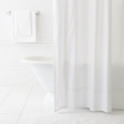 Trio Shower Curtain Color: White