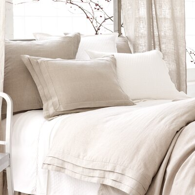 Pleated Linen Duvet Cover Size: Twin