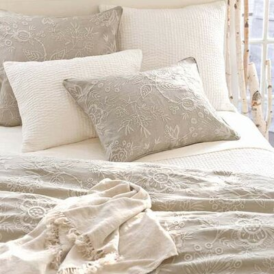 Manor Cotton House Floral Duvet Cover Size: King