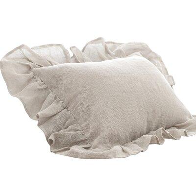 Linen Mesh Sham Size: Euro