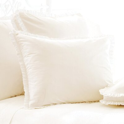Classic Ruffle 200 Thread Count Sham Size: Euro, Color: Ivory