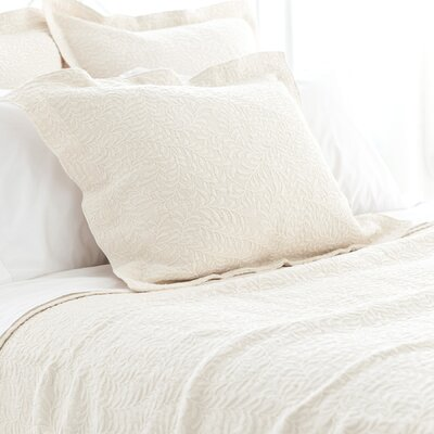 The Bright Stuff Scramble Matelasse Sham Size / Color: Euro / Ivory