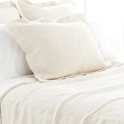 The Bright Stuff Scramble Matelasse Sham Size / Color: Standard / Ivory