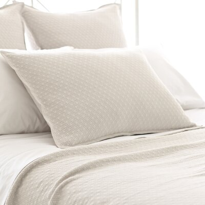 Diamond Matelasse Sham Size: Standard, Color: Platinum