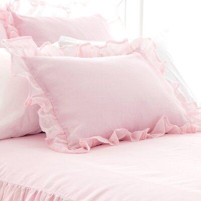 Savannah Linen Gauze Blush Pillowsham Size: Standard
