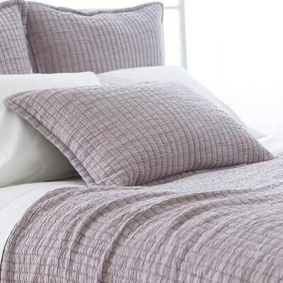 Boyfriend Matelasse Sham Size: European, Color: Gray
